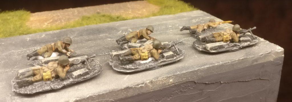 Die Russian Heavy Weapons von Plastic Soldier für den Einsatz bei der 10. NKWD Division.