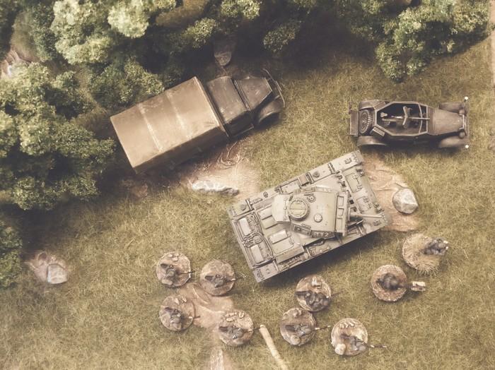 Nicht der Panzerkampfwagen III Ausf. L von Revell, Art.Nr. 03251, aber ein innigst geliebter Panzer III der stürmischen Armee beim sonntäglichen Manöver im Shturmigrader Stadtwald.