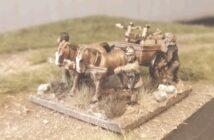 Römische Balliste (Scorpio/Carroballistae) auf Pferdekarren