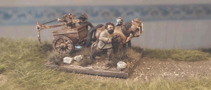 Der Scorpio im ersten Einsatz auf dem römischen Kasernenhof.