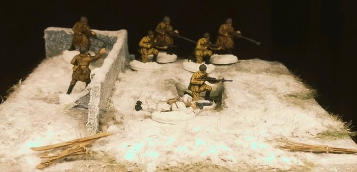 Bei Stalingrad wird schon verteidigt. Die Siberian Riflemen von Revell 02516 kommen mit dem Wetter ganz gut klar.