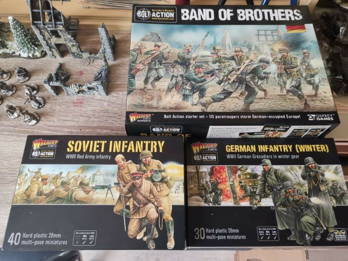 Bolt Action Red Army Infantry, German Infantry (Winter) German Grenadiers in Winter Gear, Band of Brothers.