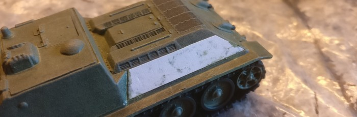 Detailaufnahme der Seite des SU-122.
