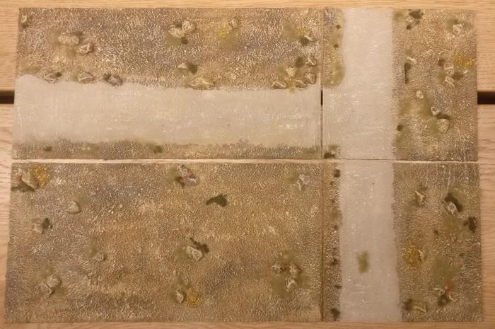 So, das ist mein Terrain Tile System mit dem Motiv des Sarissa Expansion Pack 1 Beispielfotos.