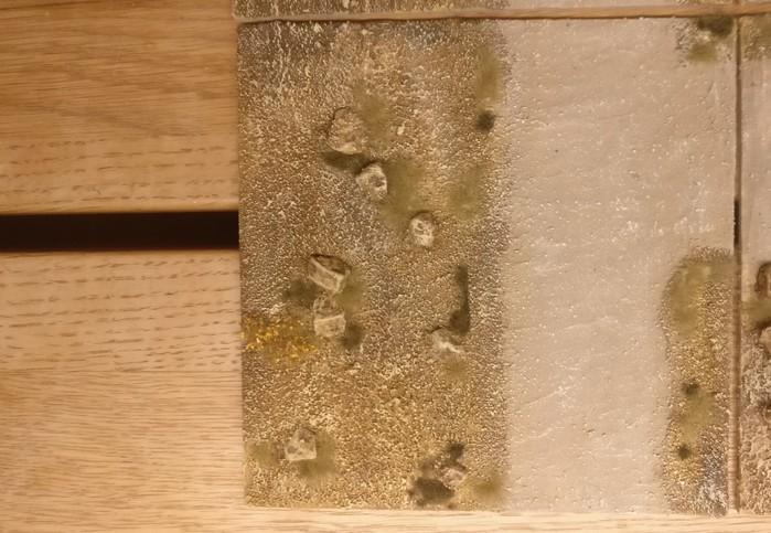 Großaufnahme: Modul 3 (15cm x 15cm) meines Terrain Tile System mit dem Motiv des Sarissa Expansion Pack 1 Beispielfotos.