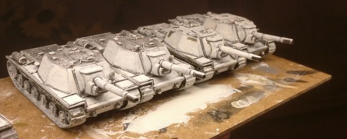 Wieder ein Schwung SU-52 in Winter Camo fertig...