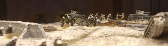Blick aus einem russischen Bunker...