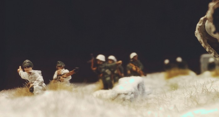 Der Platoon Commander lässt halten.