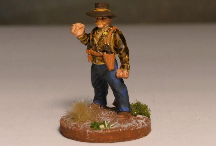 """""""I'm Number # 1"""" - Sheriff Charlton hat sich Lawmen angeheuert. Dieser hier hat stets die Hand schnell am Holster. Dead Man's Hand kennt nur Sieger!"""