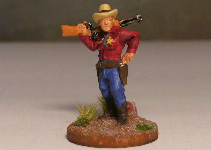 Sheriff Charlton sorgt in Honisch City für Recht und Ordnung. Und Ruhe kehrte ein bei Dead Man's Hand.