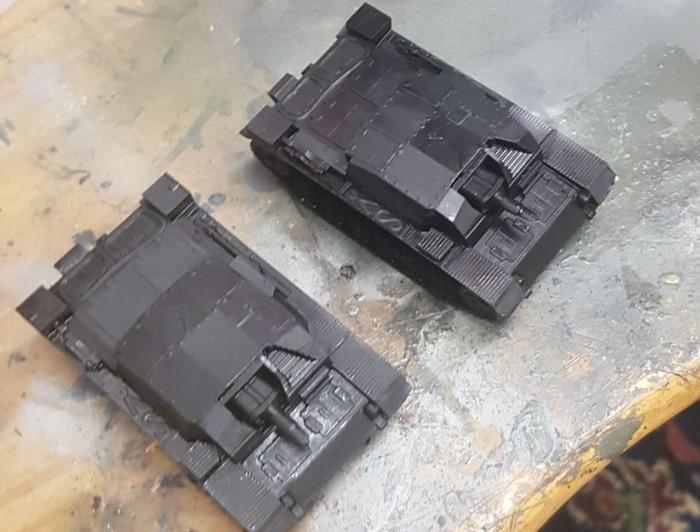 Das zwote StuG aus dem Elegoo Mars 3D-Drucker.