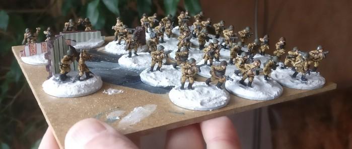 Die Truppe nach dem Trocknen der Bases.