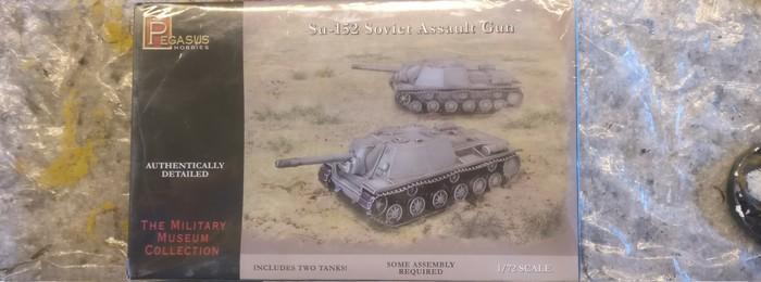 """Die Box des Bausatzes Pegasus 7668 SU-152 """"Soviet Assault Gun"""""""