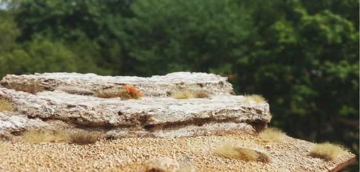Sarissa Terrain Tile System reloaded: Felsen in der Wüste