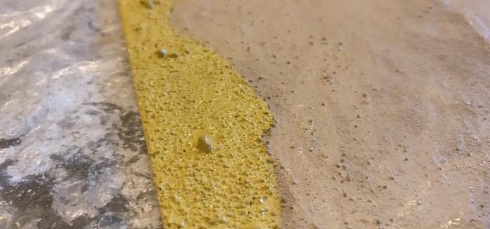 """Hier die Zone """"Geröll"""" aus der Nähe. Man erkennt die wesentlich gröbere Struktur im Vergleich zur Zone """"Sand""""."""