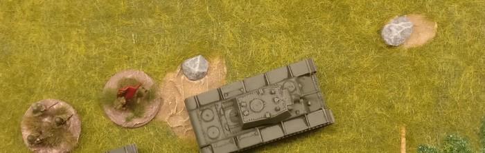 Auch aus der Luft macht der KV-I von Zvezda eine gute Figur.
