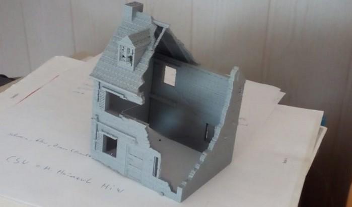Diese Häuser im 20mm-Maßstab hat der Bestellonkel mit dem Filamentdrucker Comgrow Creality 3D Ender-3 Pro 3D-Drucker gdruckt.