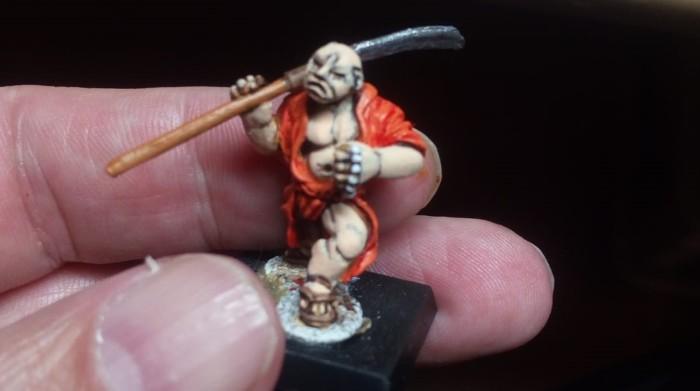 Bestellonkels Mönch aus der 28mm-Samurai-Serie von Dixon.
