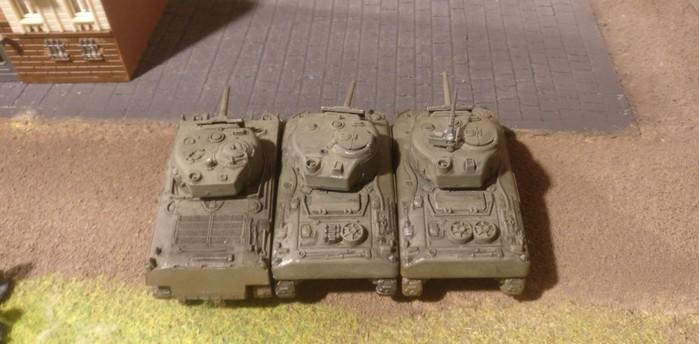 Ein Platoon M4 Lend-Lease-Sherman
