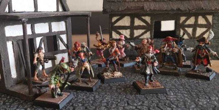 Die ganze Rasselbande: die Piraten von Longfall, Halvarsons und marks Freebooters Fate Truppe.