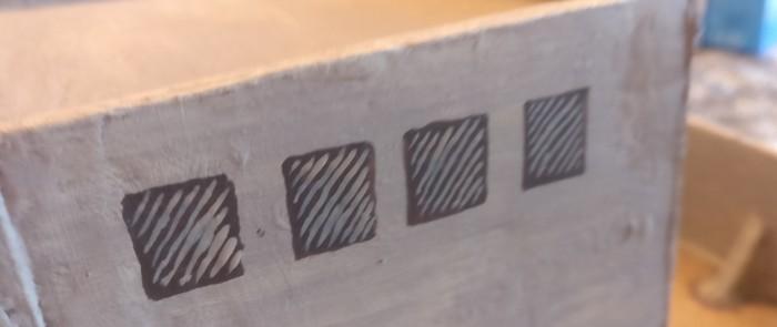 Ein Diagonalstreifen mit 189er Beige