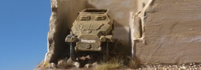 Das Sd.Kfz.251 steht auf dem Schutt in der RPG-7-Ecke.