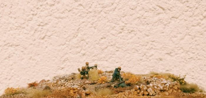 Im deutsch besetzten Sangar beginnt der Granatwerfer seinen Job.