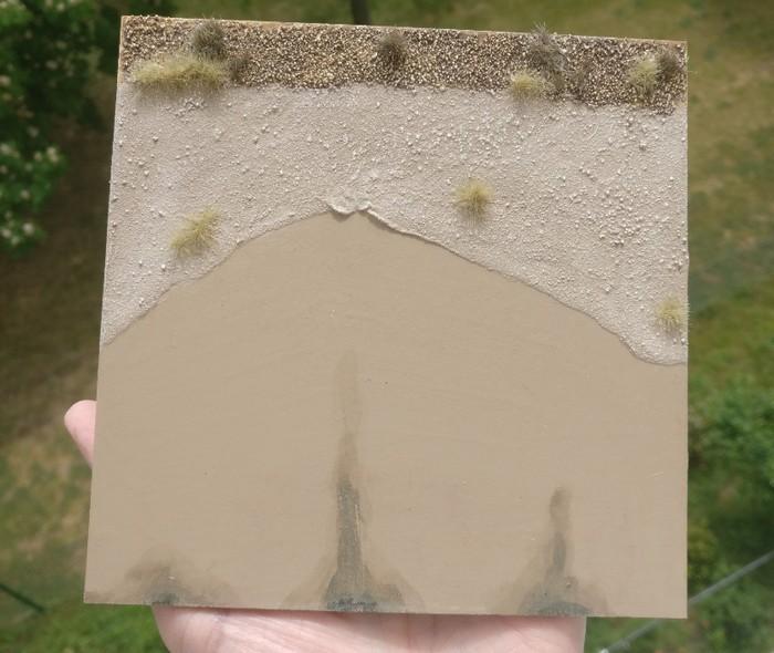 """Das erste Terrain Tile """"Strand"""" von der Kanzel der gleichen Bristol Blenheim Mk I aus beobachtet."""