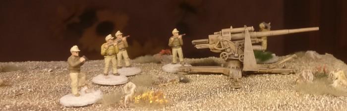 Erster Einsatz der 8,8cm FlaK 36 bei Bir Hacheim
