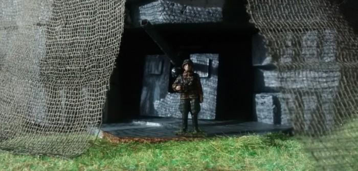 Video: Maquette de bunker fortifications Allemande en Normandie au 1/48ème