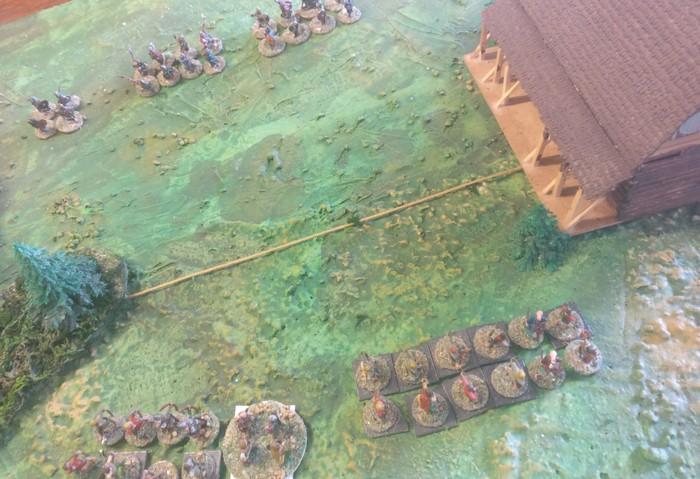 Auch im Zentrum nähern sich die Truppen an.
