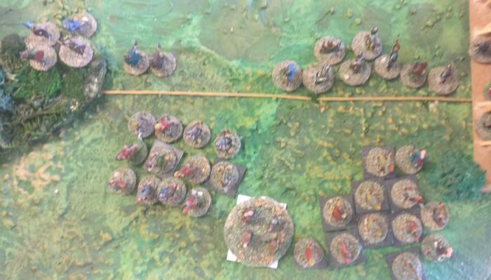 Die SAGA-Einheit der Bauern der Fürsten des Ostens haben bereits die SAGA-Einheiten der Krieger der Wikinger dezimiert.
