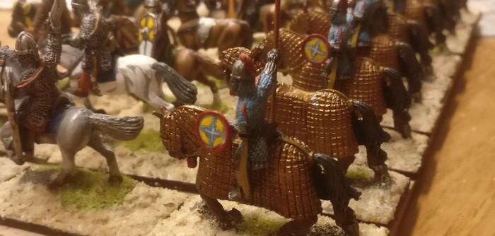 Die fertig basierte Truppe der SAGA-Veteranen der Byzantiner.