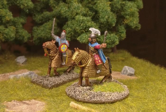 Der berittene Kriegsherr der Byzantiner und sein Adjutant...