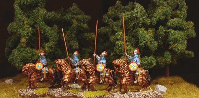 Ein weiteres Vierergrüppchen Veteranen-Reiter der SAGA-Byzantiner