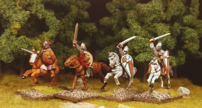 Eine dritte Gruppe Veteranen-Reiter der SAGA-Byzantiner