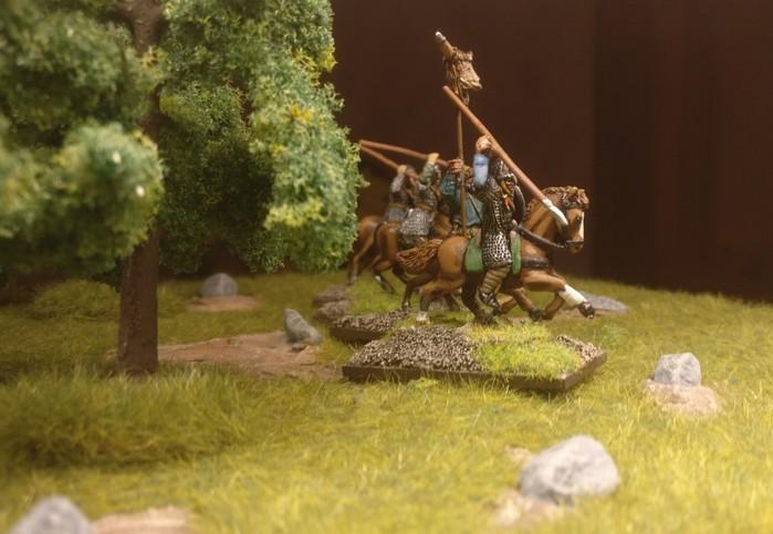 Eine vierte Gruppe Veteranen-Reiter der SAGA-Byzantiner