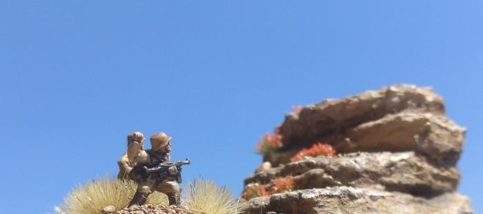 Ein Stoßtrupp der 90. Leichten Division, vermutlich zum Schützen-Regiment 155 gehörend.