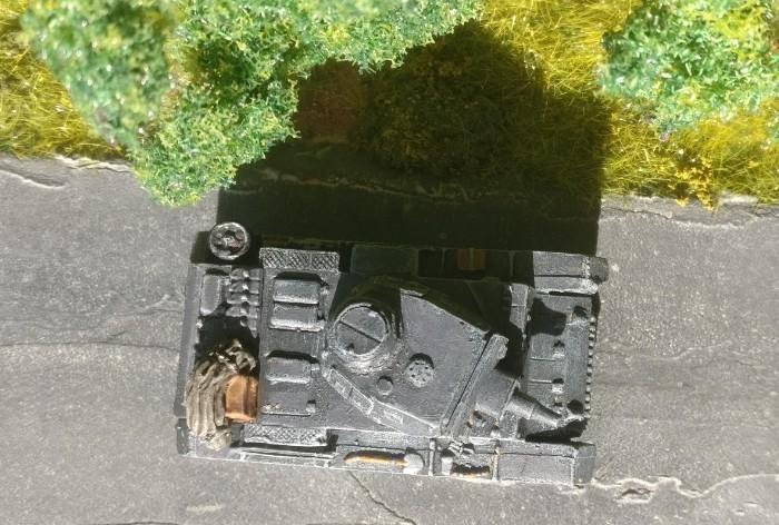 Blick von oben auf den Panzer III Ausf. N des  Pz.Rgt. 36 der 14. Pz.Div.