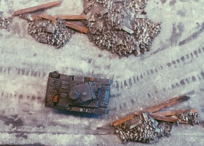 Blick aus einer IL-2 auf den Panzer III Ausf. N.