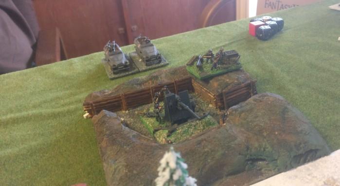 Die rechte Acht-Acht-Stellung hatte ein eingeschränktes Schussfeld.