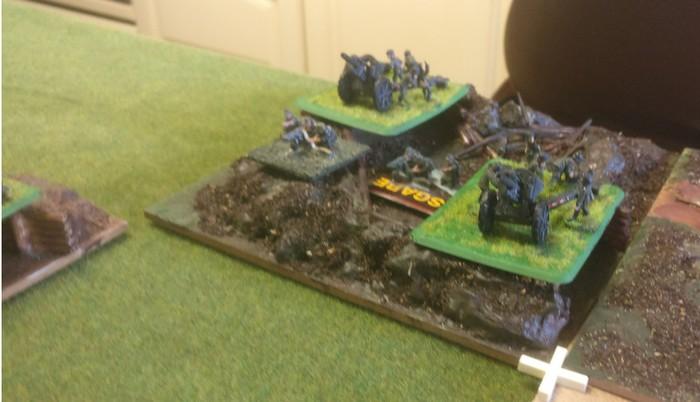 Die hintere Artillerie-Stellung der 7. Panzerdivision.