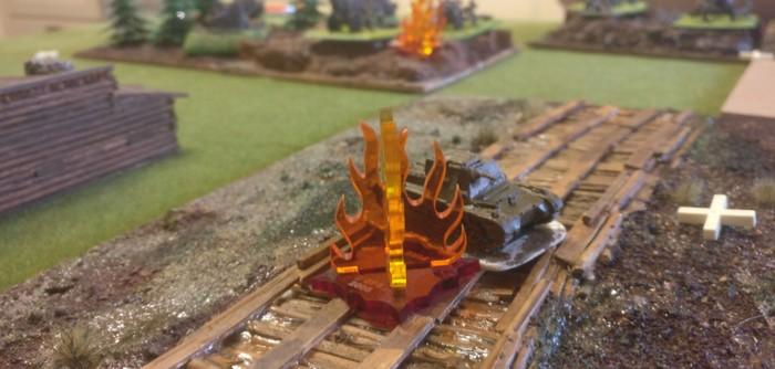 Der abgeschossene Befehlspanzer I auf dem Knüppeldamm war ebenfalls ein Missionsziel.