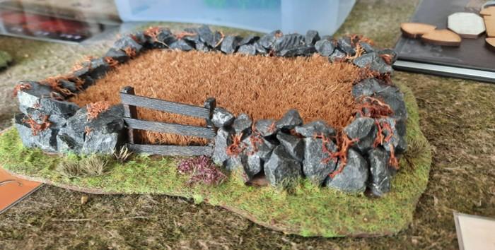 Ein Getreidefeld von Mark, frisch gefertigt.
