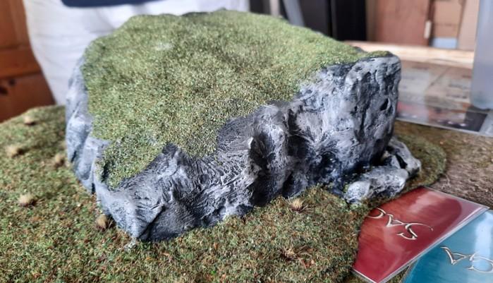 Ein Stück schweres Geläde von Mark: sein erster Felsen für SAGA.