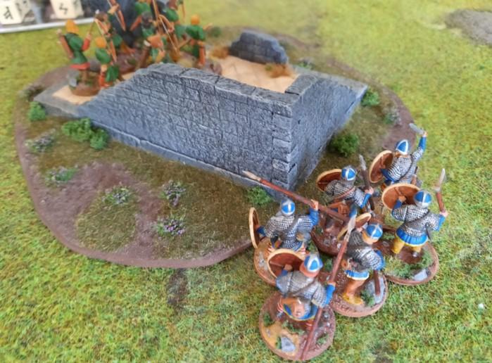 Eine weitere SAGA-Krieger-Einheit. Fernkampfwaffen waren am Samstag sehr beliebt.