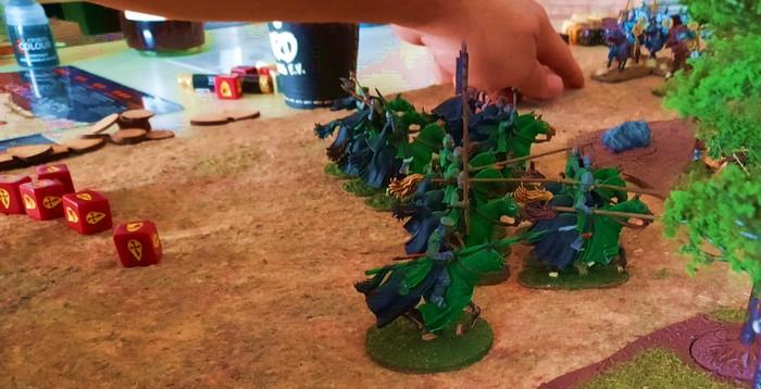 Der große  Hockmeister prescht mit seinen Truppen ins Gefecht.