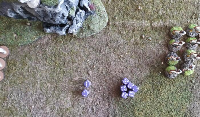 Spielergebnis: 5 gegen 27 Siegpunkte. Die byzantinische Bauern-Truppe hat das Spiel für sich entschieden.