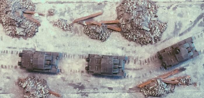 Die drei StuG III Ausf. B des III./Pz.Rgt.36 der 14. Pz.Div.  beim Vorstoß in Stalingrad.