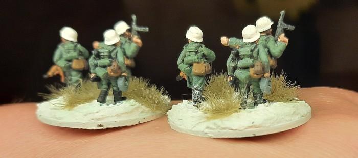 Noch ein Blick auf die Rifle Foot Groups von hinten.